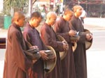 Alms Round of the Thai Plum Village Monastics