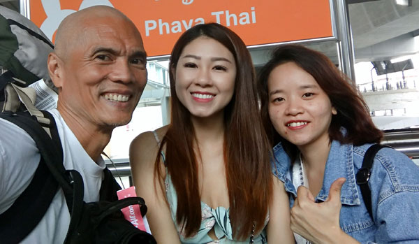 in Bangkok with Mei and Hang