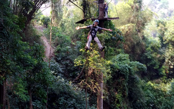 Ziplining in Chiang Mai with Eagle Track Zipline